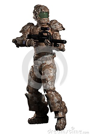 Space Marine Trooper in Brown Camouflage