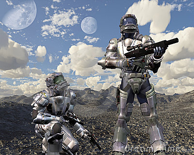 Space Marines on Deserted Planet - 1