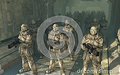 Space Marines - waiting to disembark