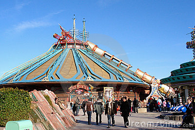 Space Mountain attraction Editorial Photography