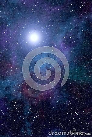 Space nebula star