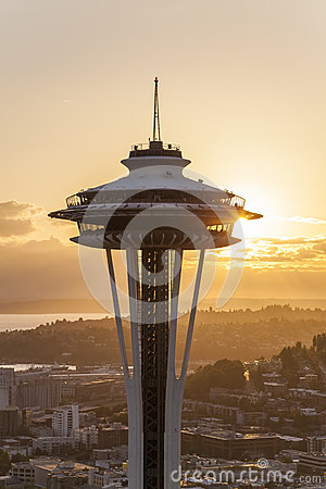 The Space Needle, Seattle, Washington, USA Editorial Photography