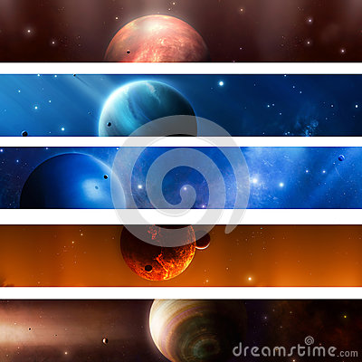 Space Planet  Banners