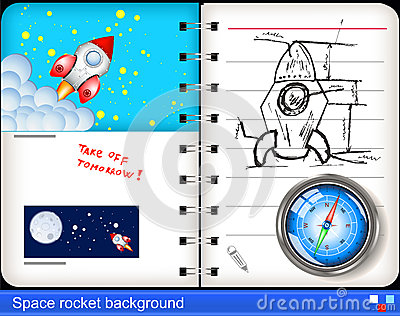 Space rocket background