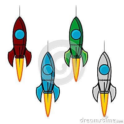 Space rocket set
