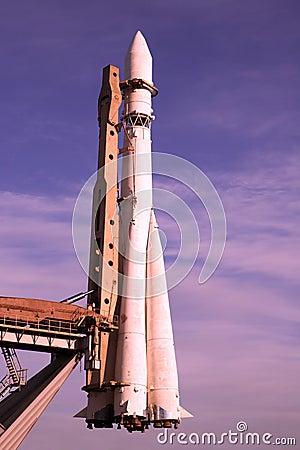 Space rocket on start