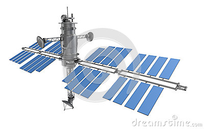 Space satellite isolated