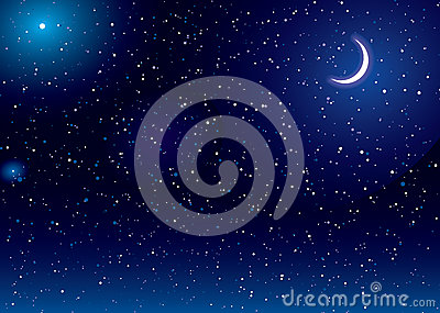 Space scape moon