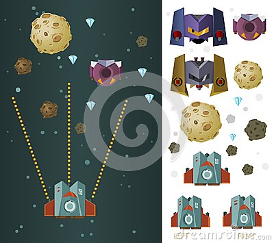 Space ship game asset