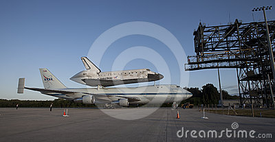 Space shuttle Discovery Editorial Photography