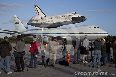Space shuttle Discovery Editorial Stock Image