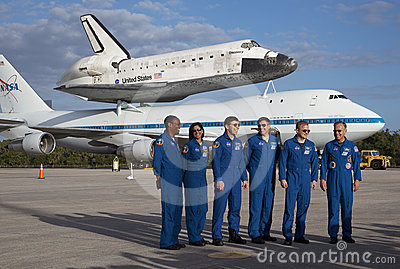 Space shuttle Discovery Editorial Stock Photo