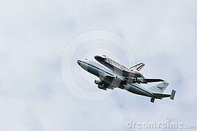 Space Shuttle Discovery Washington, D.C. Editorial Stock Photo