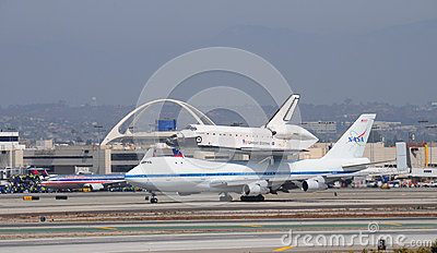 Space shuttle Endeavour, Los Angeles 2012 Editorial Stock Image