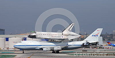 Space shuttle Endeavour, Los Angeles 2012 Editorial Photo