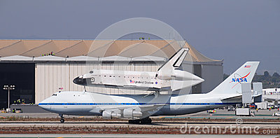 Space shuttle Endeavour, Los Angeles 2012 Editorial Stock Photo