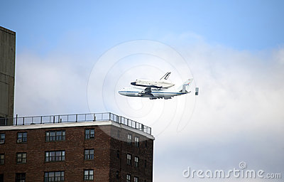 Space Shuttle Enterprise flyover NYC Editorial Stock Photo