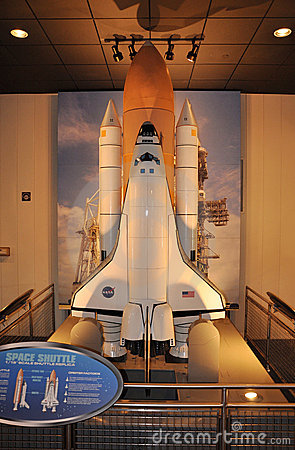 Space Shuttle Model Editorial Photo