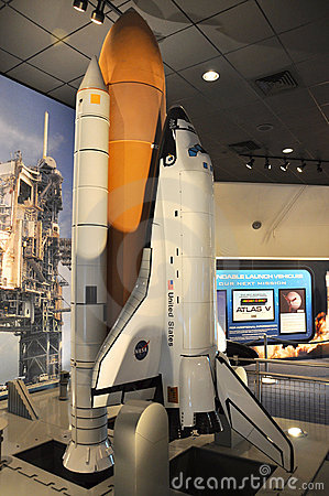 Space Shuttle Model Editorial Stock Image