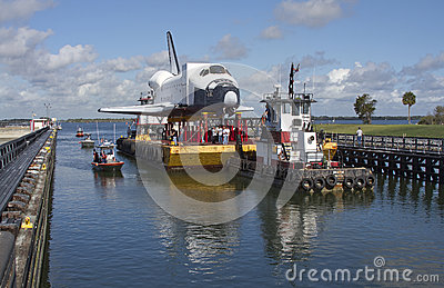 Space shuttle orbiter Explorer Editorial Stock Image