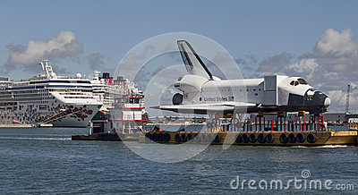 Space shuttle orbiter Explorer Editorial Stock Photo