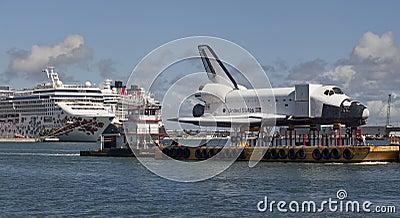 Space shuttle orbiter Explorer Editorial Stock Photo
