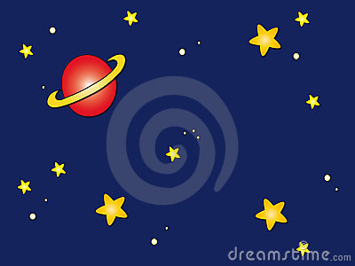 Space sky cartoon