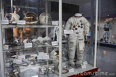 Space Suits at the Museum Editorial Photography
