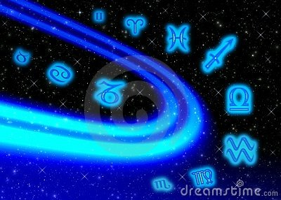 Space symbols zodiac