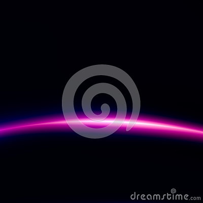 Space Technology Background. Beautiful Black Light. Creative Abstract Image. Digital Illustration for Web Design. Alien Effect. Stock Photo