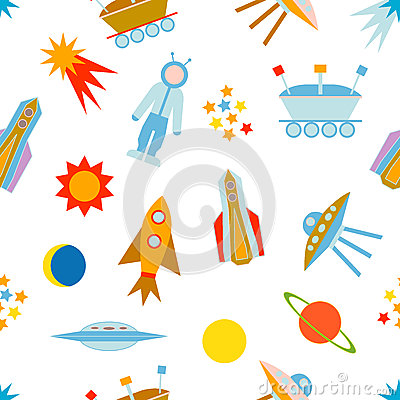 Space travel set. Vector Illustration
