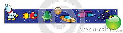 Space vehicles border