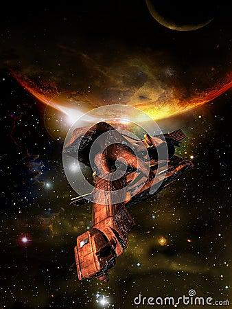 Spacecraft into the cosmos