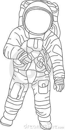 how to draw a cartoon astronaut step by step