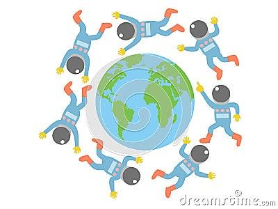 Spaceman around the world