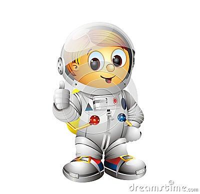 Spaceman Character Astronaut
