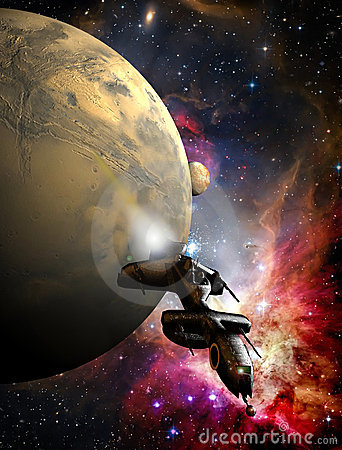 Free Spaceship Escaping Royalty Free Stock Images - 10279429