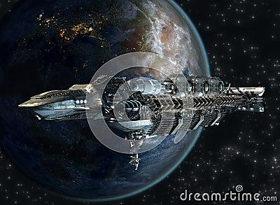 Spaceship fleet leaving earth stock illustration image for 11975 sunshine terrace
