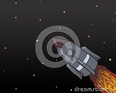 Spaceship Launch illustration