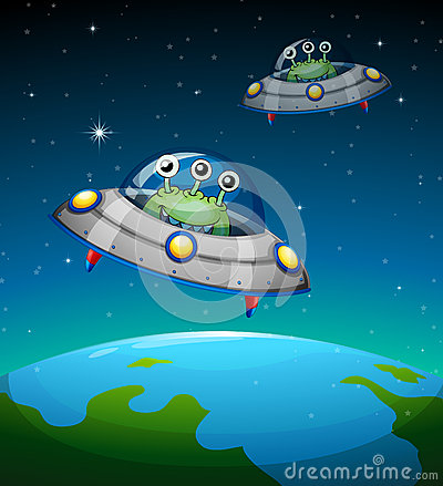 Spaceships with aliens