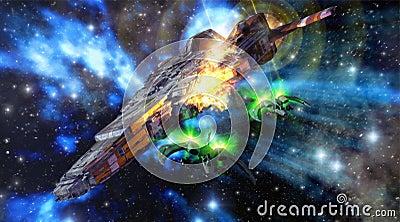 spaceships battle