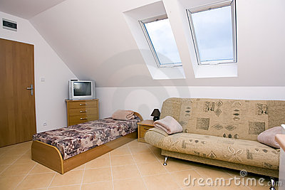 Spacious attic bedroom