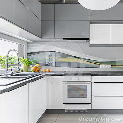 Free Spacious Kitchen With Window Stock Images - 83823904