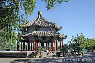 Spacious Pavilion(Kuoru Ting) in Summer palace Editorial Photo