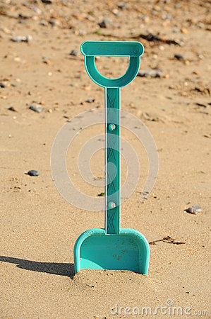 Spade at the beach