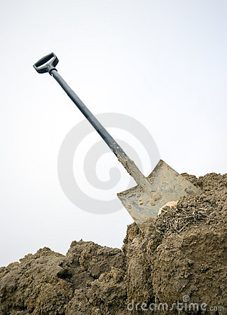 Free Spade In The Dirt Stock Photo - 5018580