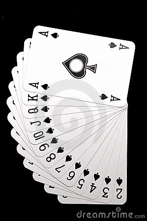 Spades on row