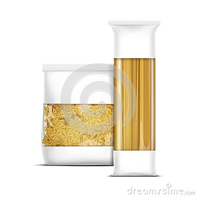 Free Spaghetti And Farfalle Bow Tie Pasta Packaging Stock Photo - 49970040