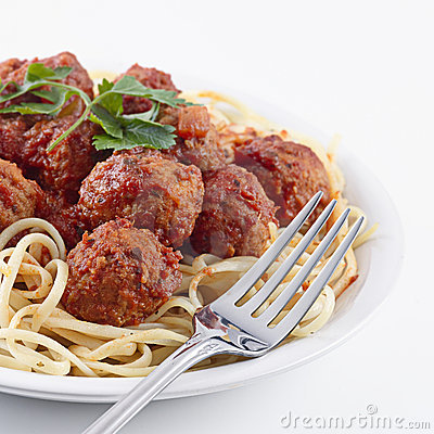 Free Spaghetti And Meat Balls Stock Images - 11462244