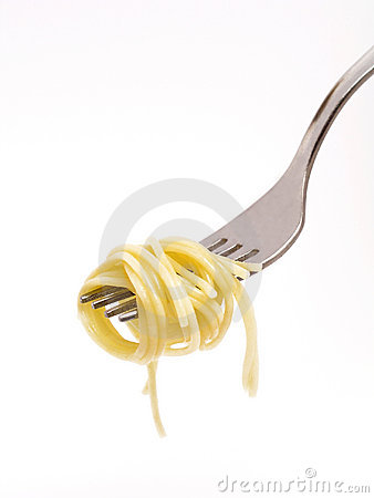 Free Spaghetti Around Fork Royalty Free Stock Photo - 233225
